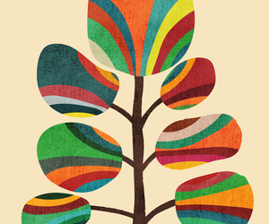 colourful, print, and leaves image