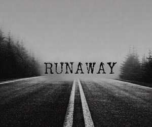 Darkness, runaway, and sadness image