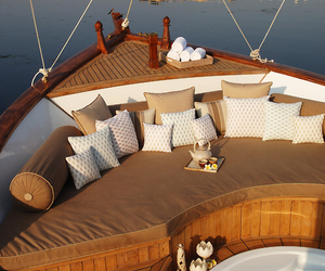 boat, luxury, and summer image
