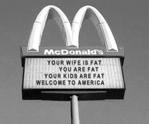 fat, McDonalds, and america image
