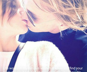 couple, Jamie Campbell Bower, and kiss image