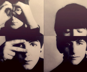 black and white and the beatles image