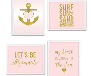 anchor, beach, and gold image