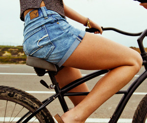 bicycle, shorts, and love image