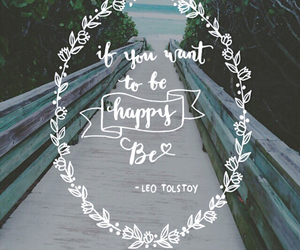 happy, quotes, and tolstoy image