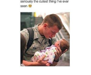 baby, soldier, and love image