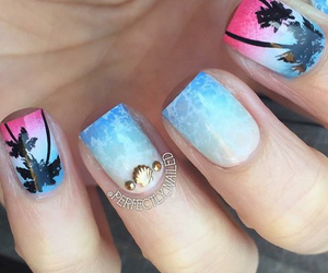 nails, summer, and cute image