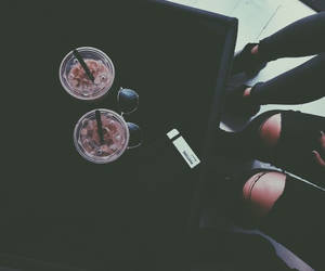 black, coffee, and grunge image