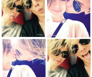 couple, Jamie Campbell Bower, and kissing image