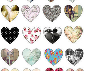 hearts, love, and heart image