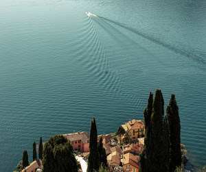boat, italy, and ocean image
