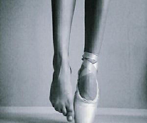 balerina, black and white, and dance image
