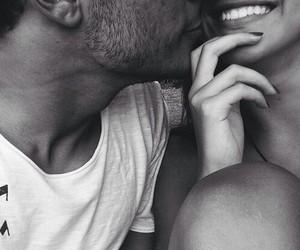 black, couple, and lips image