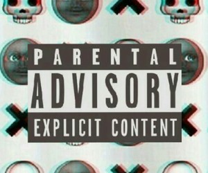 parental advisory, wallpaper, and goth image