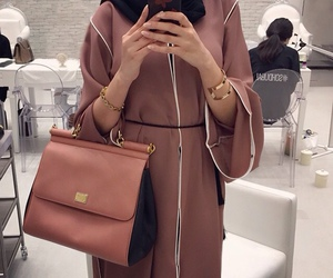 hijab, abaya, and outfit image
