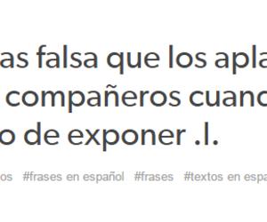 colegio, frases en español, and falsos image