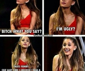 funny, ariana grande, and singer image