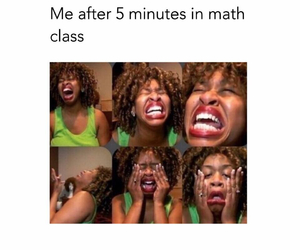 class, math, and funny image