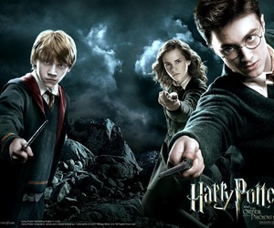 harry potter, harry, and ron image