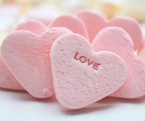 hearts, pink, and yum image