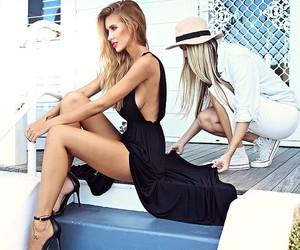 black, girl, and dress image