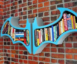 batman, books, and bookshelf image
