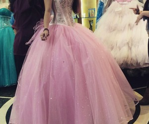 dress, rosa, and quinceanera image