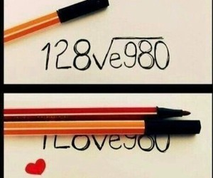 love, I Love You, and math image