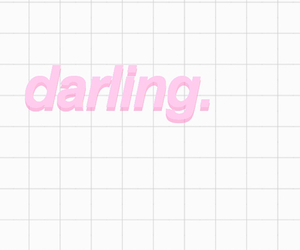 darling, pink, and quote image