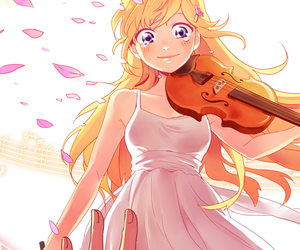 shigatsu wa kimi no uso, anime, and violin image