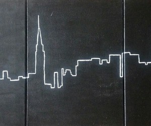 city, new york, and art image
