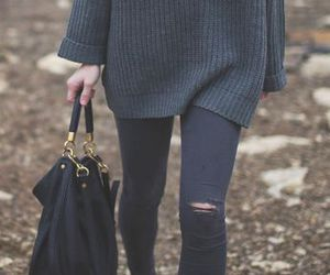 fashion, outfit, and swater image