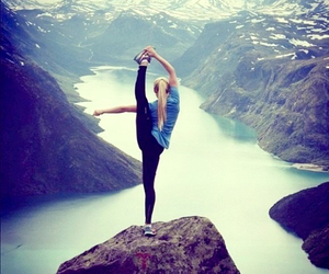 girl, mountains, and sport image