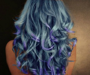 blue hair, girl, and photography image