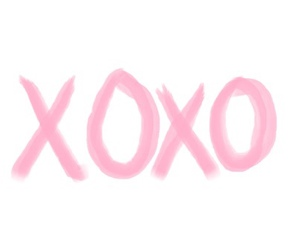 xoxo, pink, and kiss image