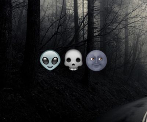 emoji, dark, and black image
