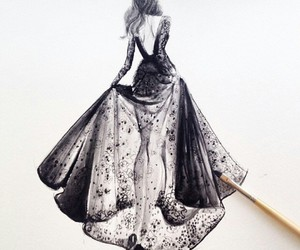 gorgeous painting and painting gown image