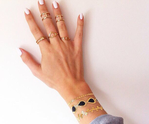 rings, nails, and hipster image