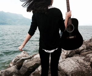 free, guitar, and happy image
