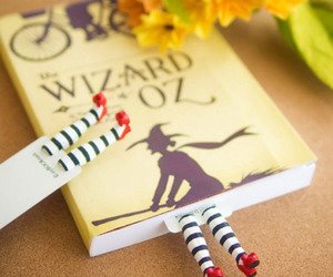book, bookmark, and flowers image