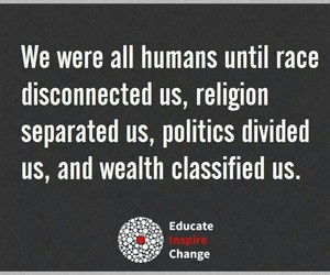 quote, via facebook, and educate inspire change image