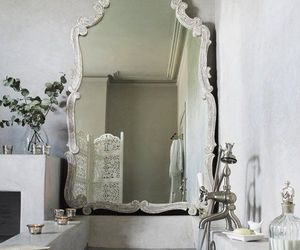mirror, bathroom, and bath image
