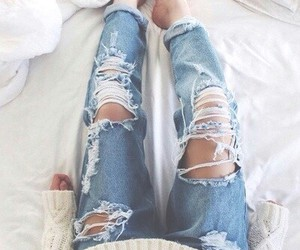 fashion, ripped jeans, and style image
