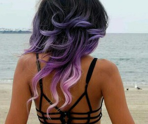 colored hair, curly hair, and hair image