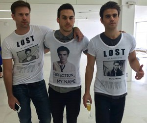 paul wesley, chris wood, and tvd image