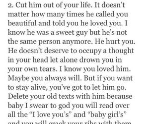 break up, heartbreak, and quotes image