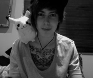 boy, cute, and pikachu image