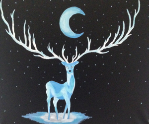 art, beauty, and deer image