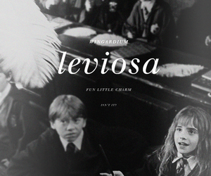 harry potter, leviosa, and book image