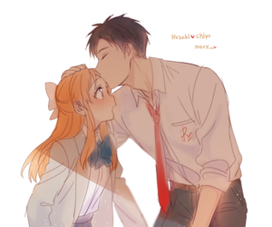 gekkan shoujo nozaki-kun, anime, and couple image